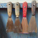 four ink spatulas